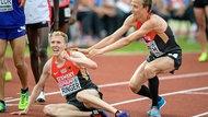 Der deutsche 5.000-Meter-Läufer Richard Ringer (l.)