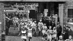 Marathon-Start in Amsterdam 1928