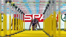 Colin Jackson vor dem Start © Picture Alliance/dpa
