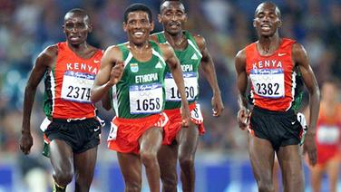 Haile Gebrselassie (2.v.l.) © Picture Alliance/dpa