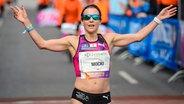 Sabrina Mockenhaupt beim Halbmarathon in Berlin 2017